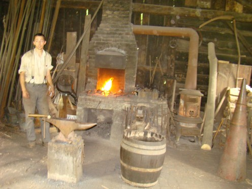The 1890s Blacksmith Shop at Work