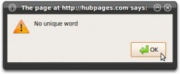 If you have not installed a unique Google Analytics exclusion word on the current computer, you will see this when verifying your unique word. Follow the steps in Part 1.