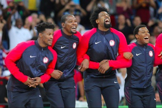 Jimmy Butler with fellow 2019 NBA free agents Kevin Durant and DeAndre Jordan
