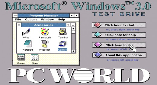 In 1990, Microsoft released Windows 3.0.
