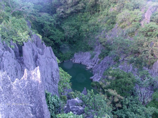 Hidden lagoon in one of the smaller Islands in  Caramoan
