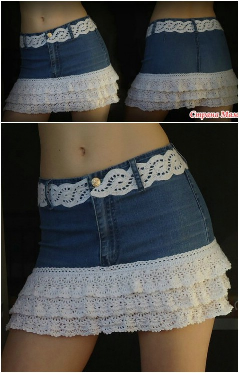 Adorable jean skirt