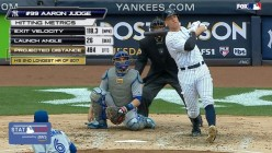 Aaron Judge, the Yankees biggest bargain is back at bat after being out since July 27th.