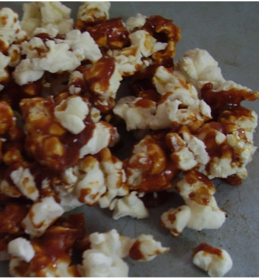 Homemade caramel corn is an inexpensive and delicious snack