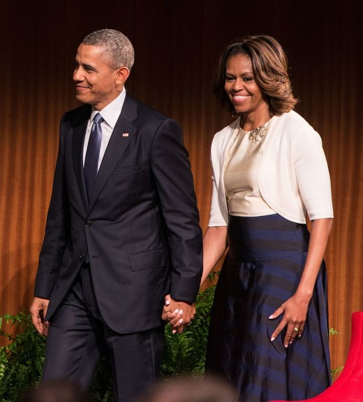 Barack and his wife, Michelle.