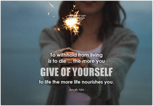 Give of yourself