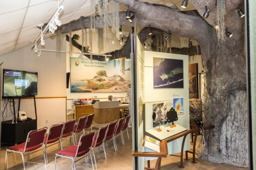 Exhibits at U.S. Gulf Islands National Seashore at the Fort Pickens Museum.