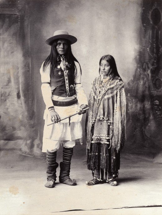 Pictured: Native American man and woman