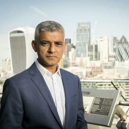 British Muslim Mayor of London:  Sadiq Khan.