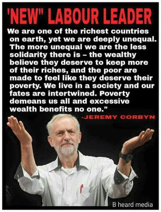 Jeremy Corbyn:  His speech at the Labour party conference.