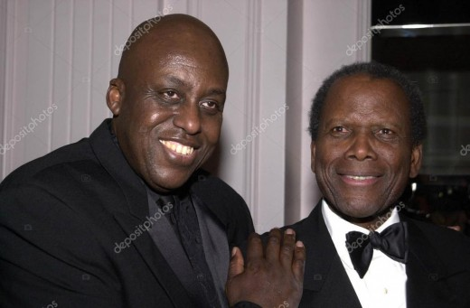 Bill Duke with Sidney Poitier at ASCAP Film and TV Music Awards in 2001.