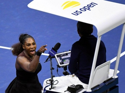 Serena Williams argues with Ramos