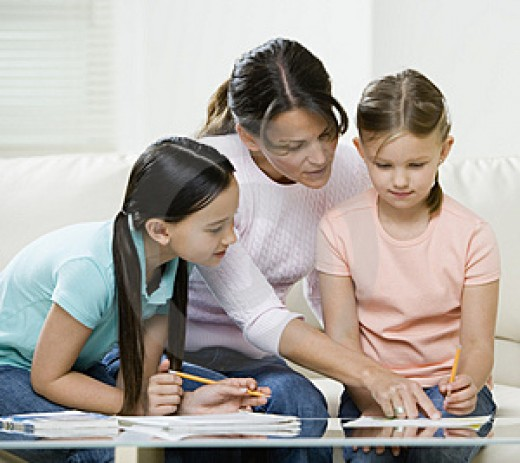 Family study time - balancing school with family