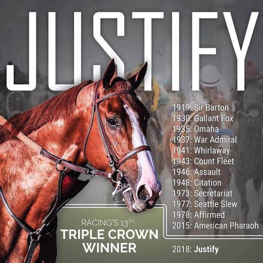 Justify, the most recent triple crown winner.