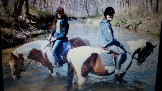 R is for riding. Especially trail riding with friends.