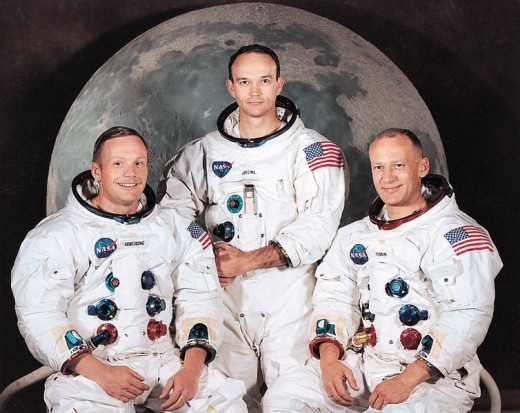 Apollo 11 Crew. Commander, Neil A. Armstrong; Command Module Pilot, Michael Collins; and Lunar Module Pilot, Edwin E. Aldrin Jr.