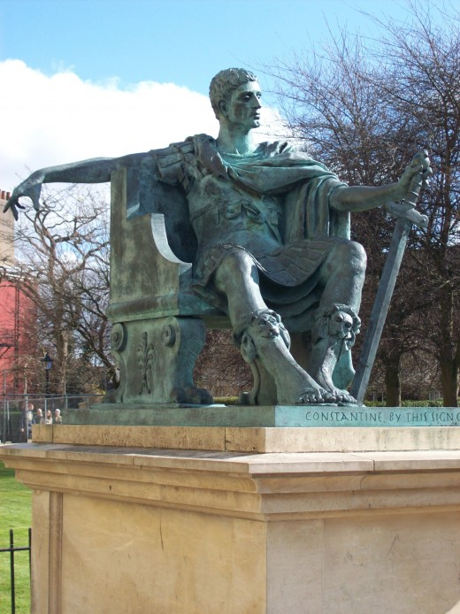 The statue of Constantine