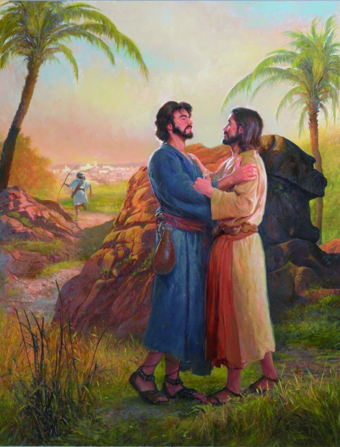 Jonathan found David and encouraged him in the Lord, and they made another covenant together.