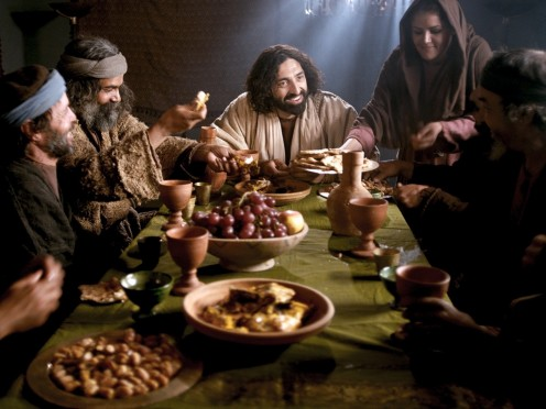 Jesus shook the Pharisees up by eating with sinners.