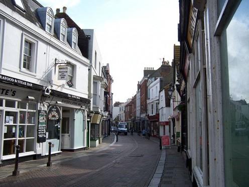 George Street, Old town, Hastings Deutsch: Historische Altstadt/Hastings