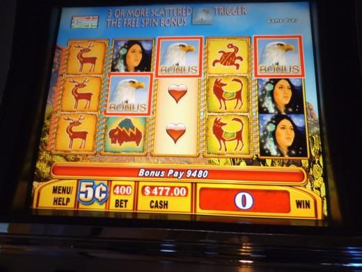 Having fun at the casino near Syracuse, NY.
