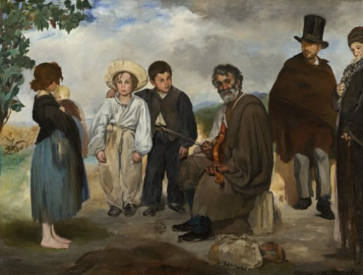 """THE OLD MUSICIAN"" BY MANET (1862) IS IN THE NATIONAL GALLERY IN WASHINGTON DC"