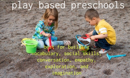 The most important role of a preschool teacher is to facilitate play.