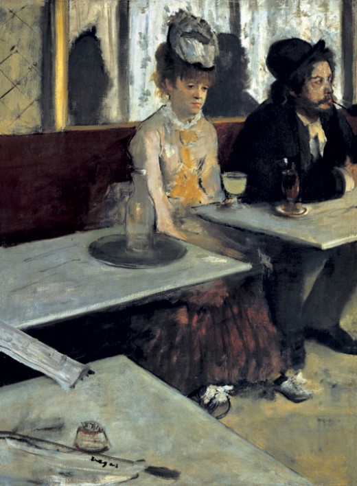 """L'ABSINTHE"" BY DEGAS (1876) IS IN THE MUSEE D'ORSAY IN PARIS"