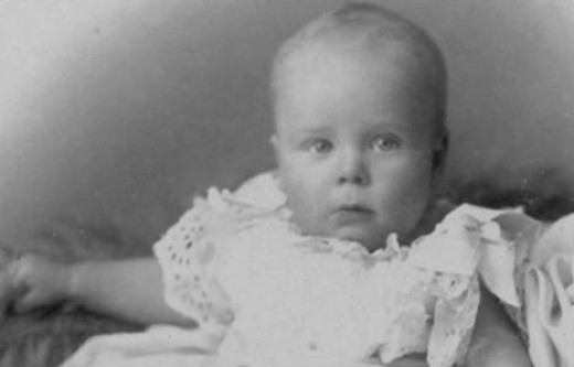 Henry Allingham as an infant (Source:  Public domain photo courtesy of WikiPedia Commons)
