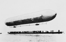 First Zeppelin Flight - July 2, 1900 on Lake Constance in Germany. Zeppelins like this one bombed Great Yarmouth base in England where Allinghan was stationed. (Source: Public domain photo courtesy of WikiPedia Commons)