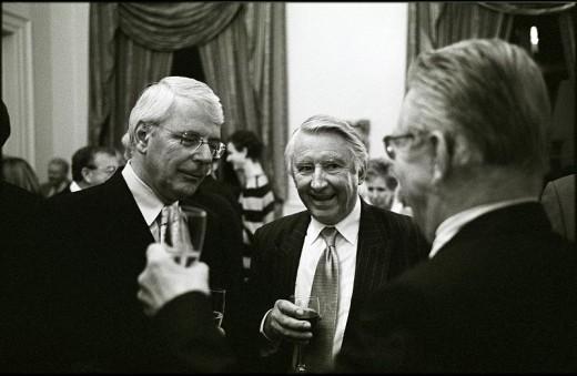 Ex - PM Sir John Major with David Steel and Michael Gove.