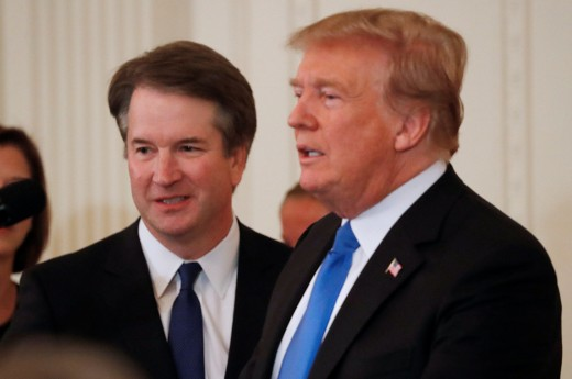 President Donald Trump on Monday defended his Supreme Court nominee Brett Kavanaugh in the wake of allegations that Kavanaugh attempted to sexually assault a woman when they were both in high school.
