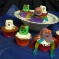 Marshmallow Monster Cupcakes for Halloween