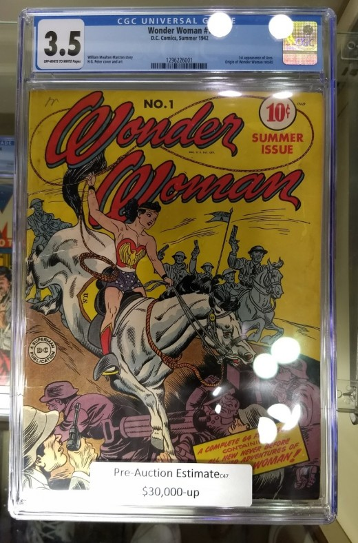 Wonder Woman No. 1, which introduced the famous female superhero.
