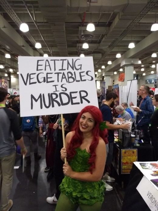 This cosplayer perfectly portrays Poison Ivy, a Bat-Man villian who is an eco-terrorist protecting the environment from corporate interests.