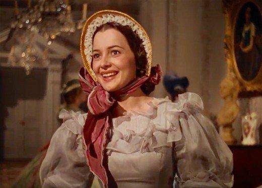 Olivia de Havilland as Melanie in Gone With The Wind.