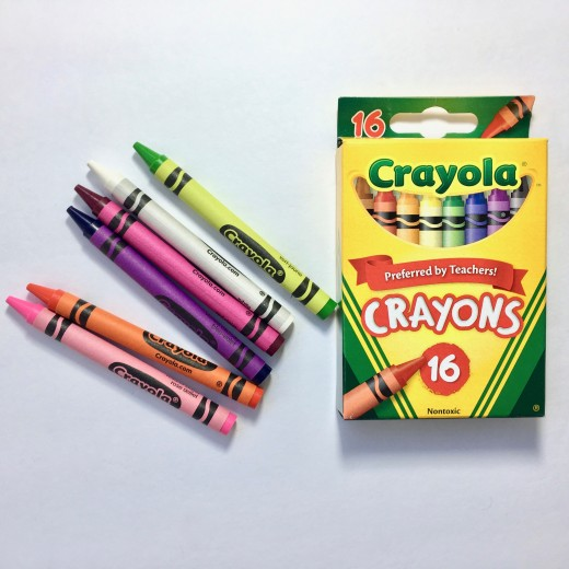 A set of crayons is a good gift for creative kids.