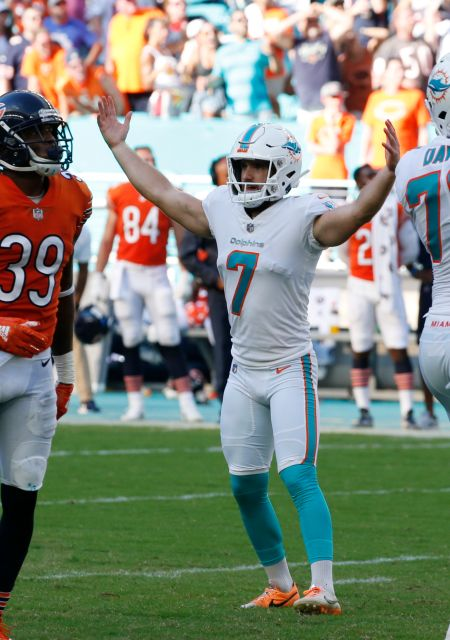Jason Sanders hit a 47 yard field goal to give the Dolphins the overtime win over the Bears.