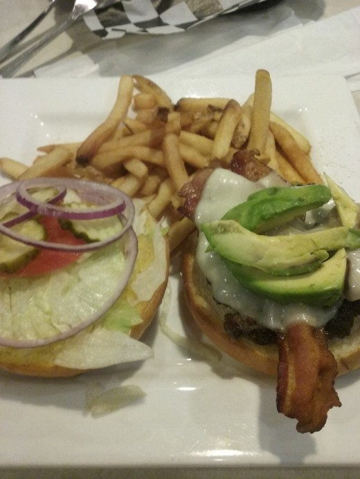 At Cooper's Ale House, the generous California burger is served at a fair price of $8.99