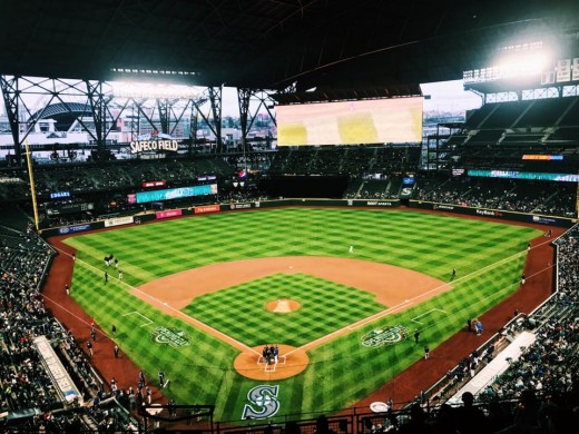 This is a photo of the Safeco Field. You can't go wrong with sports events! If you don't care about your seats, you can get super cheap tickets. I believe ours were less than $20!