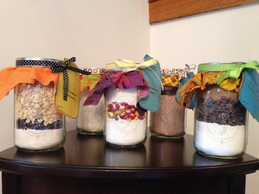 Of course, you can always get a ready made gift in a jar on etsy