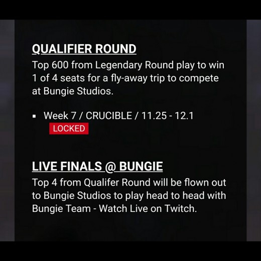 Qualifier and Finale Info