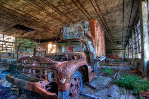 Packard automotive plant (but that vehicle is not a Packard)