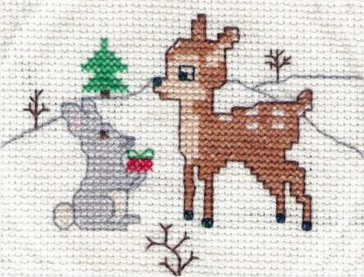 Old-fashioned cross stitch design sewn by my lady.