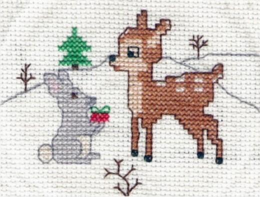 Old-fashioned cross stitch design sewn by my lady.
