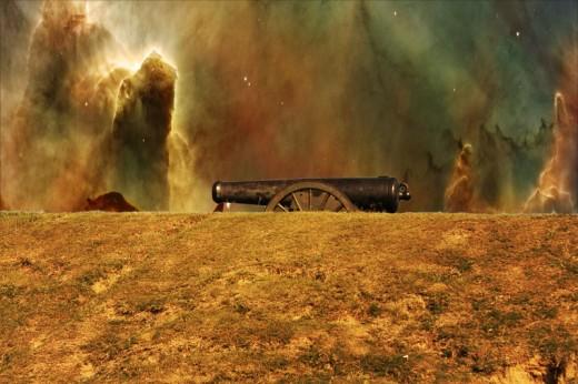Canon on the battlefield  Vicksburg Mississippi.