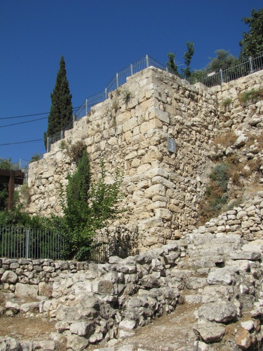A photo of the actual wall spoken of in the book of Nehemiah.