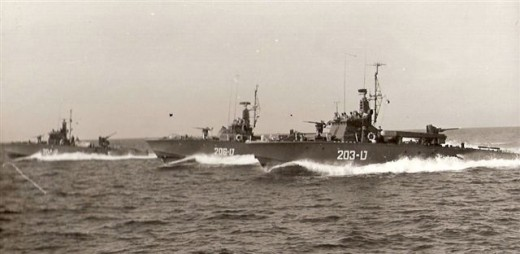 Israeli Navy MTBs circa 1967.  MTBs of this type attacked the USS Liberty.