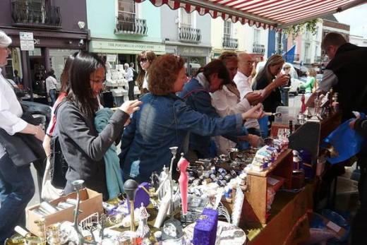 Roadside stall at Portobello Market