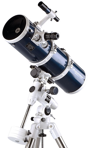 A reflector telescope has a large tube, meaning it can gather much more light than a similarly sized refractor telescope.